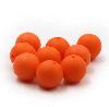 15мм (оранжевая) круглая, силиконовая бусина, фото 2