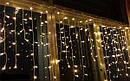 Гирлянда светодиодная LTL Sople занавес 300 led длина 9.6 метра теплая Warm White + переходник, фото 6