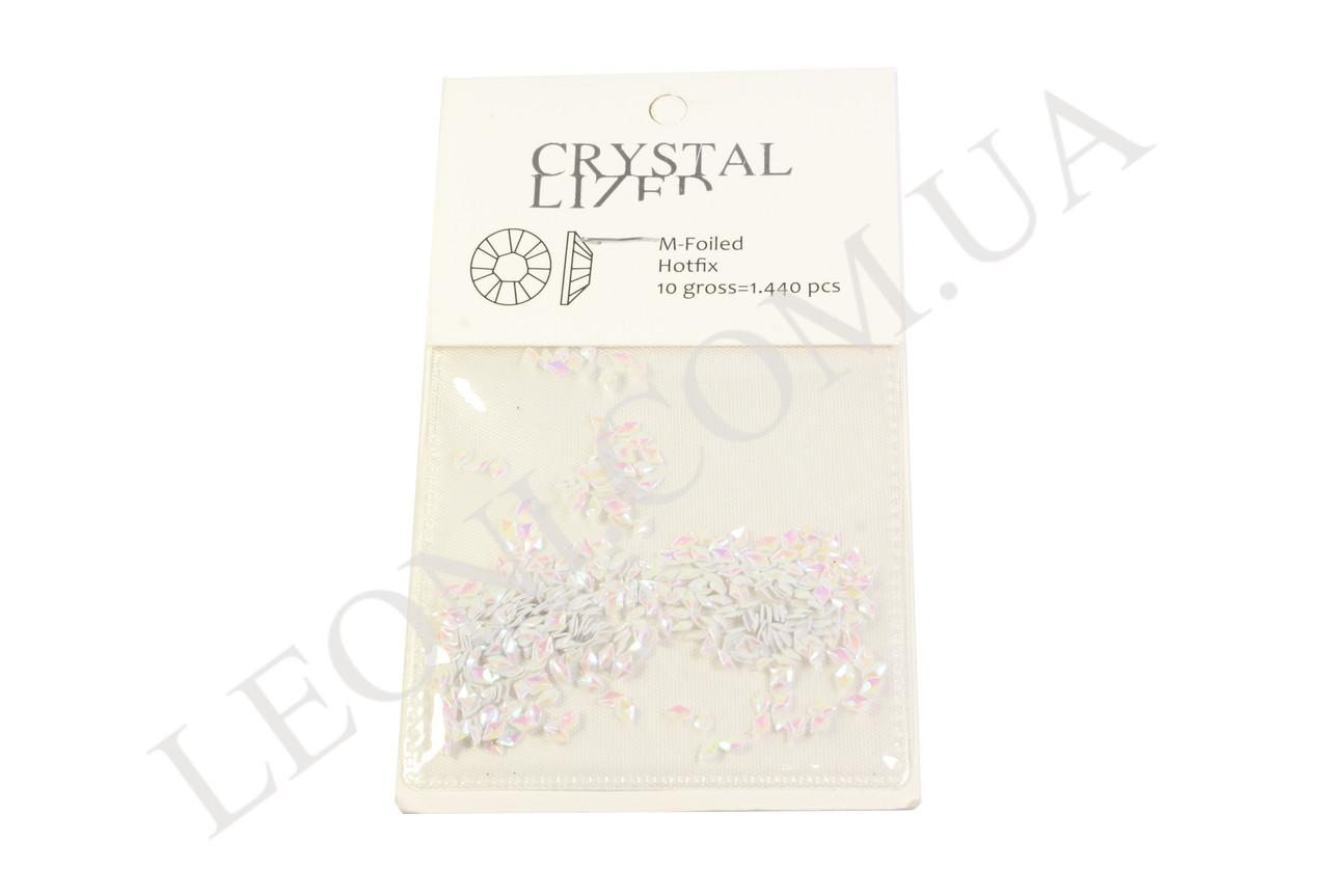 Фигурные кристаллы белого цвета для дизайна ногтей