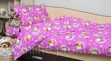 Постельное белье для подростков Lotus Young ранфорс Hello Kitty Star V1 розовый полуторный размер
