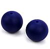 15мм (темно синий) круглая, силиконовая бусина, фото 2