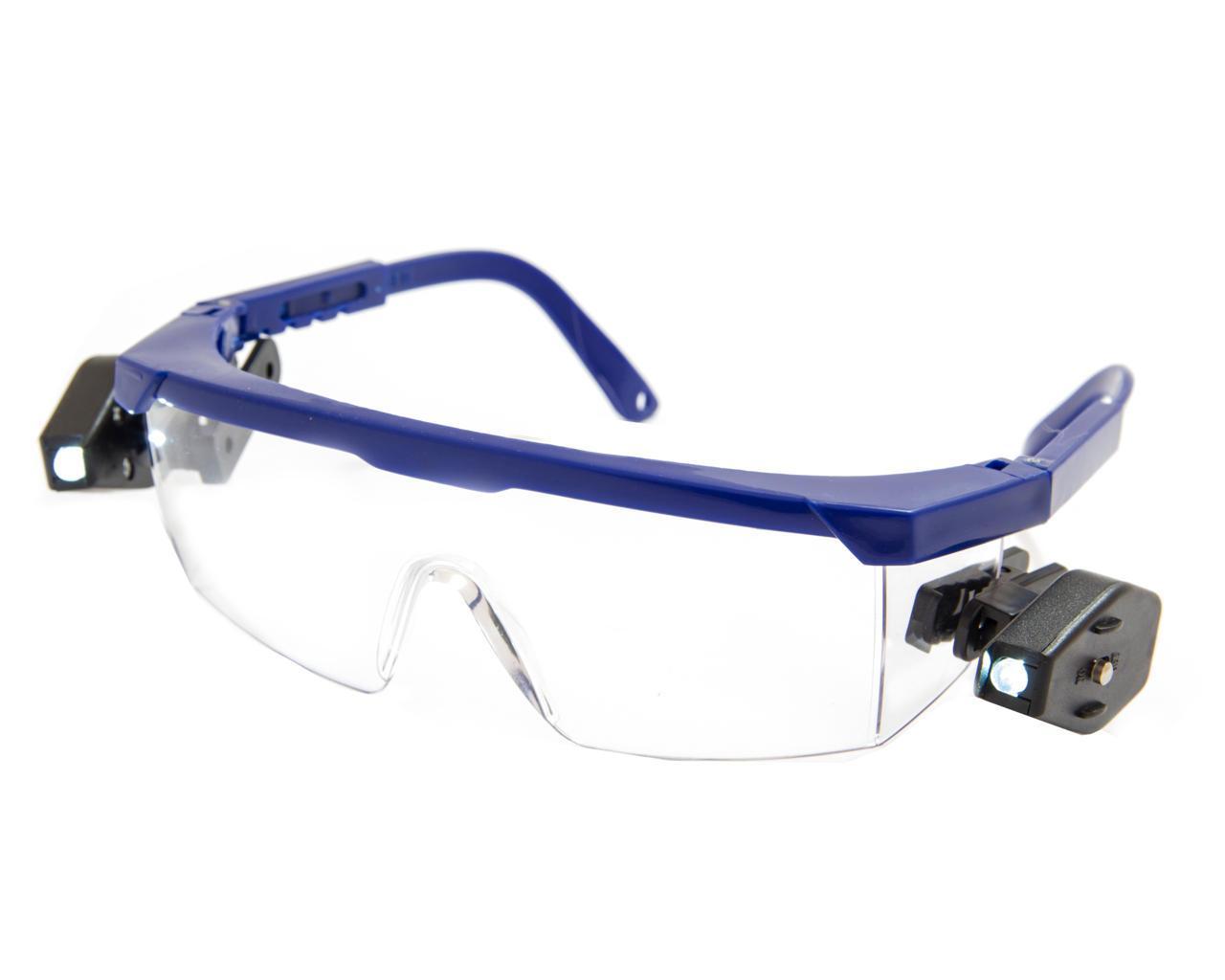 Очки защитные Комфорт с фонариком