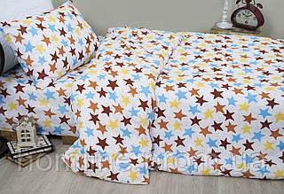 Детское постельное белье для подростков Lotus Young Star кофе ранфорс полуторный размер