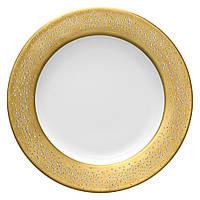 Фарфоровая тарелка столовой посуды с оригинальными кристаллами Сваровски