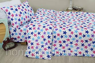 Детское постельное белье для подростков Lotus Young Star синий ранфорс полуторный размер