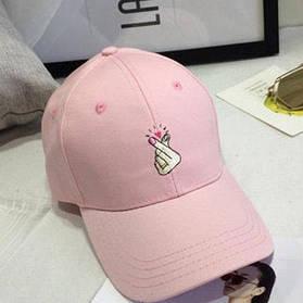 Розовая летняя кепка ( женская бейсболка )