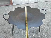 Сковорода из бороны 550 мм съемные ножки, фото 2