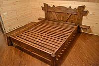 Кровать под старину с боковыми полками
