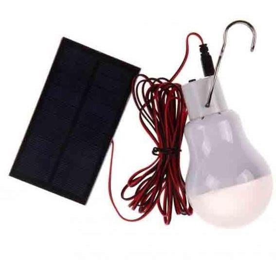 Лампа аккумуляторная с солнечной панелью