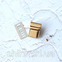 Замок для сумки маленький ZM12-3, цвет золото