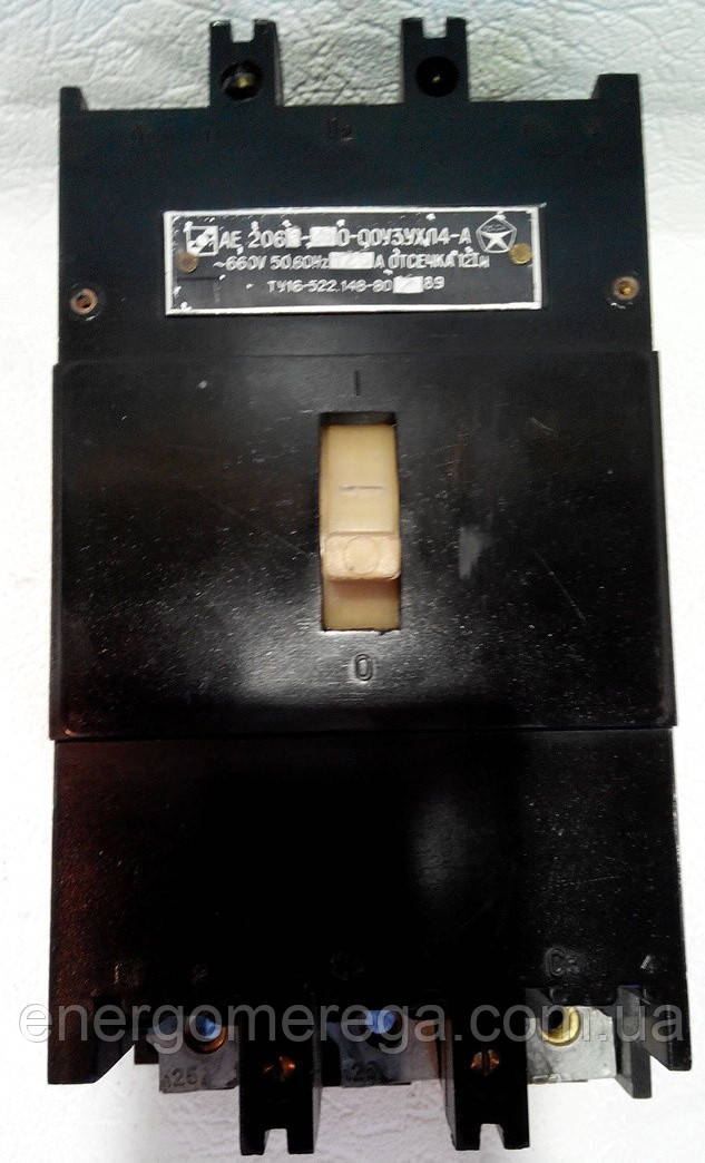 Автоматичний вимикач АЕ 2066 125А