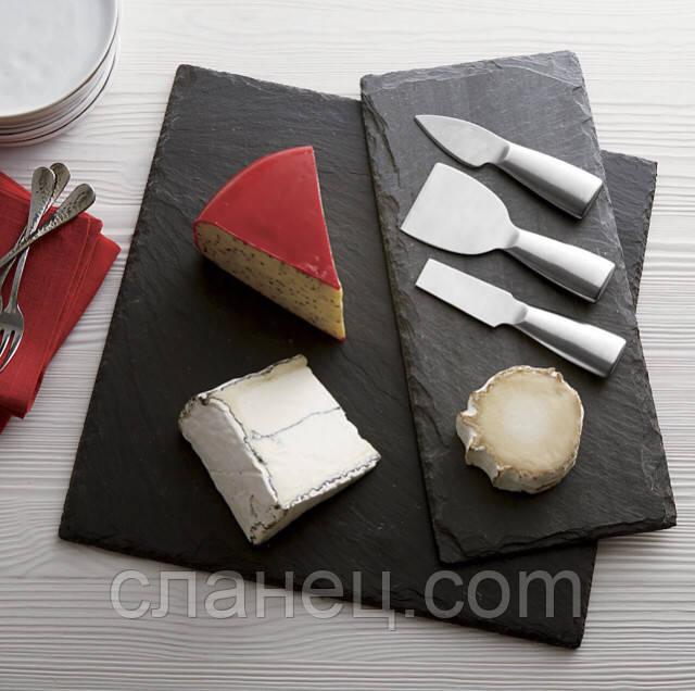 Квадратный 25 х 25 см поднос, тарелка, блюдо сланцевая посуда