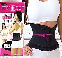 Miss Belt компрессионный пояс для похудения,черный, S/М
