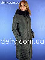 Пальто женское зимнее длинное Qarlevar 926 (Размер  48-58) пуховики Mishele b7ac0d2bf9ea8