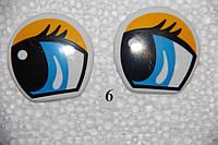 Глазки рисованные, 42*42 мм.   №6