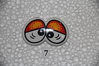 Глазки рисованные, сдвоенные,  47*30  мм.   №7