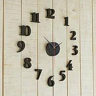 Настенные часы наклейки Черные 3D  0476487, фото 1