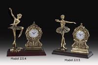 Со Вкусом baletnice часы из бронзы, в гостиную - Модель 2215 - 26x26cm