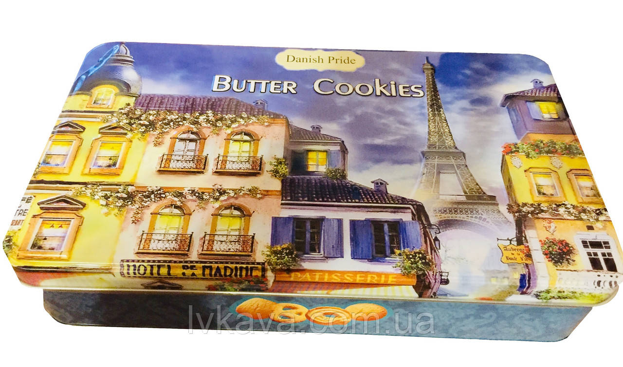 Печенье ассорти Butter cookies Paris Danish Pride, 300 гр, ж\б