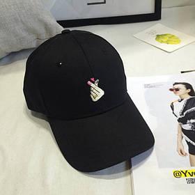 Черная летняя кепка ( женская бейсболка )