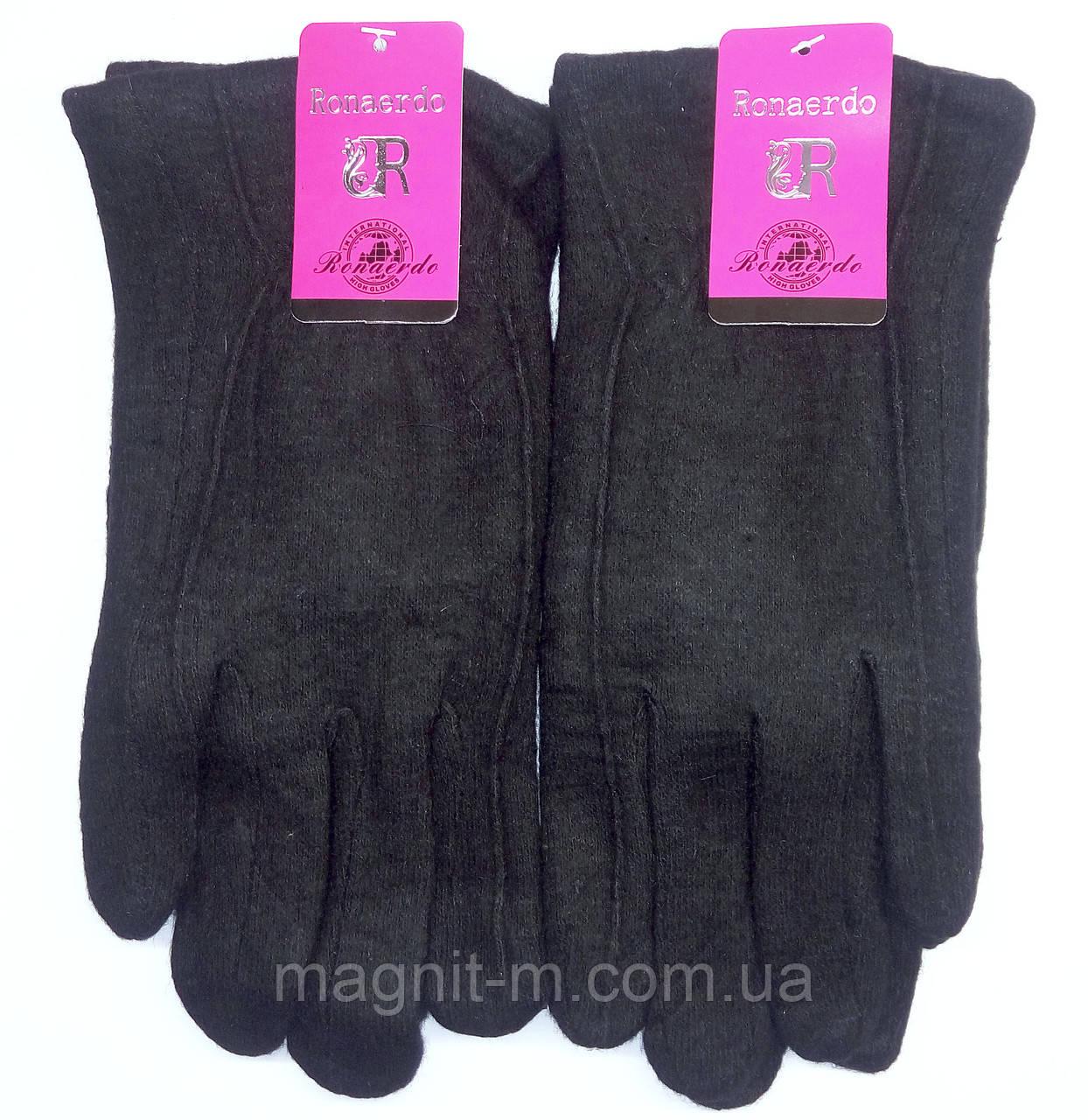 """Перчатки мужские """"Ronaerdo"""". Кашемир. Внутри мех. Черные. Разные размеры."""