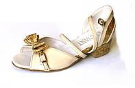 Туфли бальные Анна (радуга беж.лак), фото 1