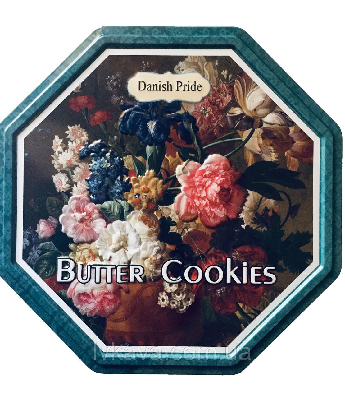 Печенье ассорти Butter cookies Букет цветов Danish Pride, 300 гр, ж\б