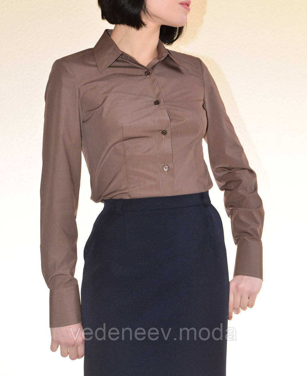 Блуза кофейного цвета