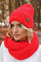 Женский комплект красного цвета с хомутиком
