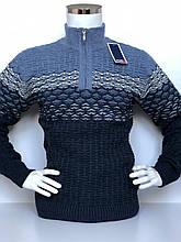 Теплий светр чоловічий з високим горлом, і змійкою FIVE 5, красива в'язка