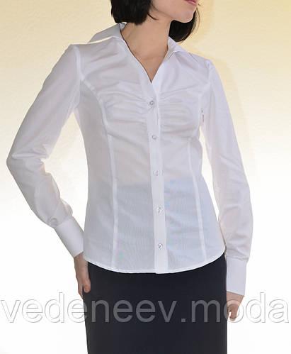 Блуза классическая со сборкой на груди
