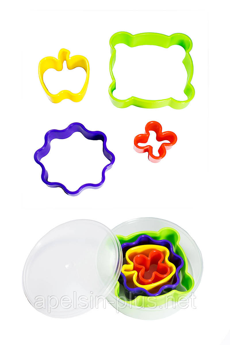 """Вырубка пластиковая """"Ассорти"""" набор из 4 форм"""