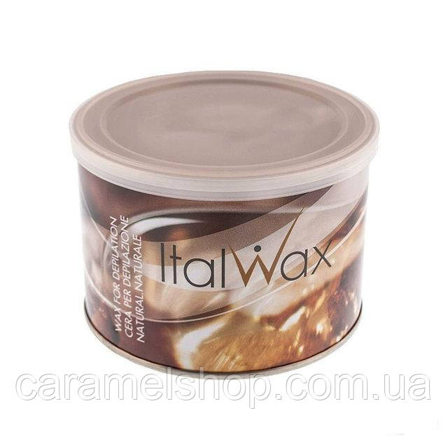 Теплый воск для депиляции в банке ItalWax Natural, 400 мл - натуральный