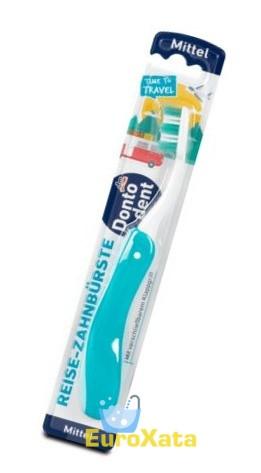 Зубная щетка дорожная складная Dontodent Travel средней жесткости (1 шт) Германия