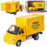 """Газель 9077 E  инер-я, бат-ка, звук, свет, """"перевозка грузов"""", в кор-ке, 24-14-11см"""