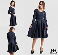 Платье в мелкую клетку / ангора / Украина 7-2-676, фото 1