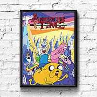 Постер с рамкой Adventure Time, Время Приключений #2