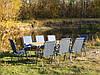 """Комплект раскладной мебели для дачи и отдыха на природе """"Комфорт O2+8"""" (2 стола с чехлами и 4 кресла)"""