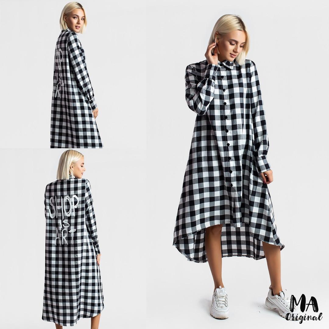 765677c5433 Платье - рубашка в клетку   фланель   Украина 7-2-677 - Магазин