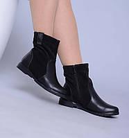 Демисезонные комбинированные  ботинки из натуральной кожи без каблука, фото 1