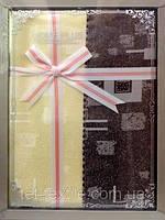 Скатерть шоколадно-ванильная абстракция Home Plus (150x220cm.)