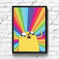 Постер с рамкой Adventure Time, Время Приключений #4