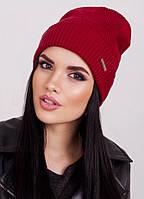 Вязаная шапка-колпак Ruby цвет бордо