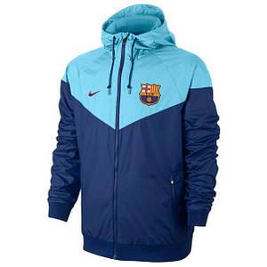 Футбольная ветровка клубная фк Барселона голубая