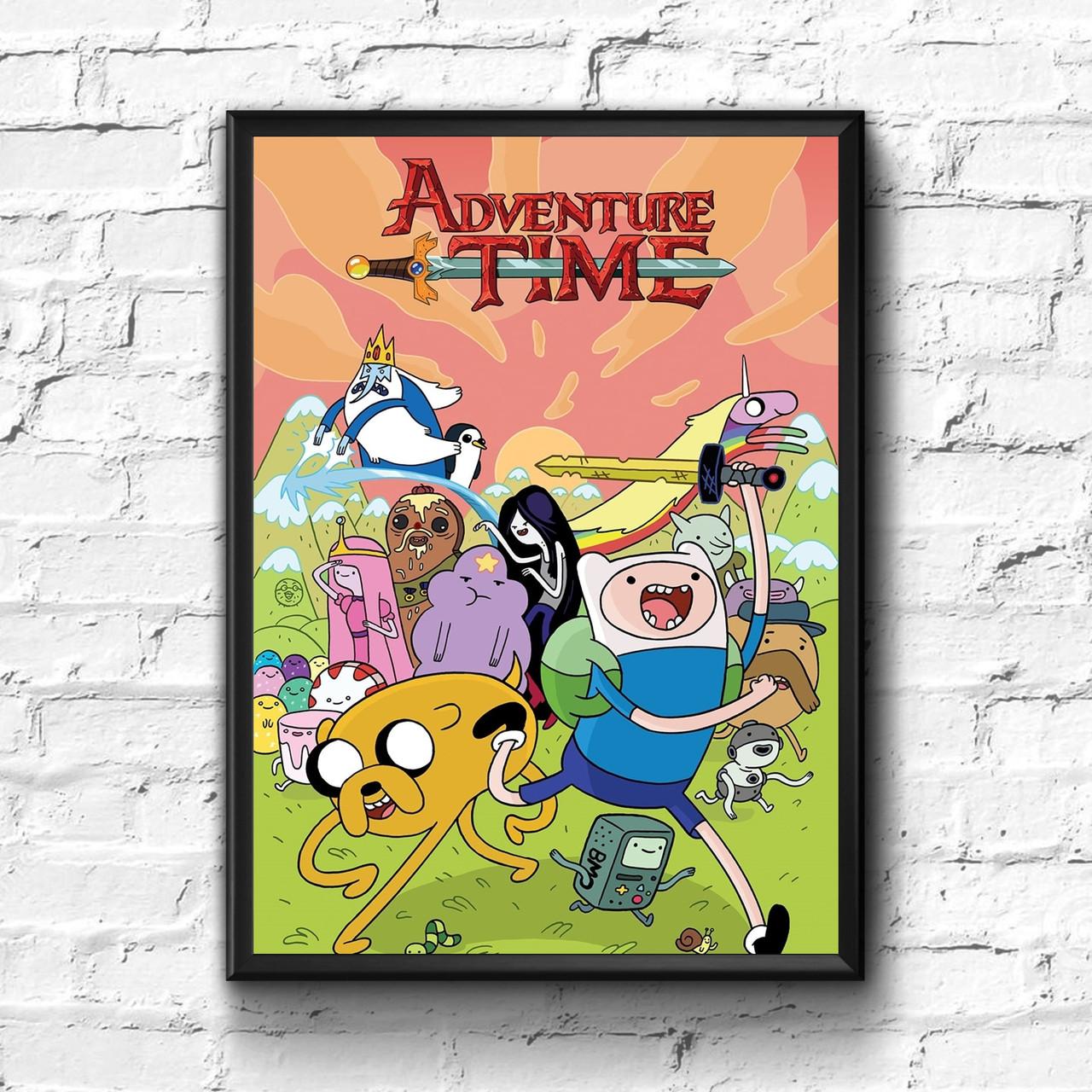 Постер с рамкой Adventure Time, Время Приключений #6