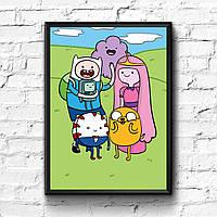 Постер с рамкой Adventure Time, Время Приключений #7