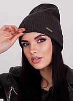Модная вязаная шапочка Ruby темно-серая