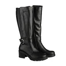 VM-Villomi Элегантные сапоги черного цвета со вставкой и ремешком
