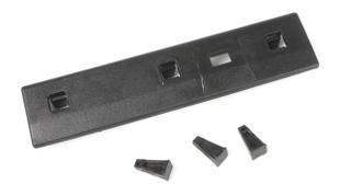 Планка двери задней (верхняя) (рейка, лыжа, фиксатор) MB Sprinter/VW LT 96- (303015) Solgy