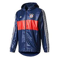 Футбольная ветровка клубная Бавария сине-красная